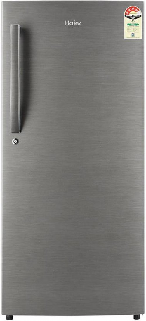 Haier 195 L Direct Cool Single Door 4 Star Refrigerator  (Brushline Silver, HRD - 1954BS-R/E // 1954CBS-E)