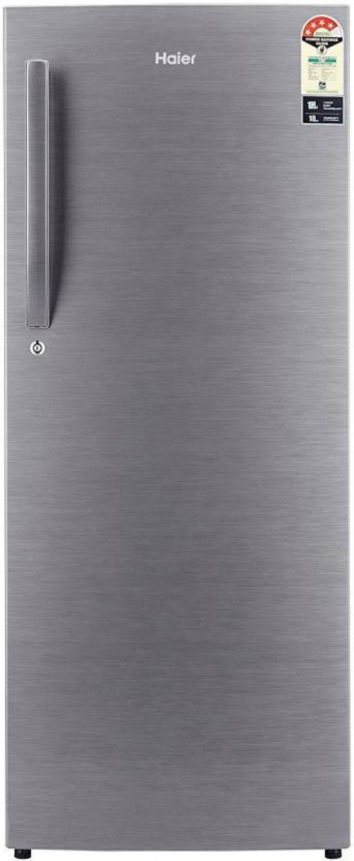 Haier 220 L Direct Cool Single Door 4 Star Refrigerator  (Brushline silver, HRD-2204BS-R/E//HRD-2204CBS-R/E)